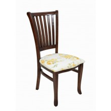 Cadeira Plaza I Capuccino Floral Amarelo