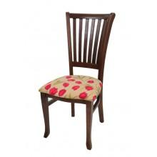 Cadeira Plaza I Capuccino Flores Vermelhas