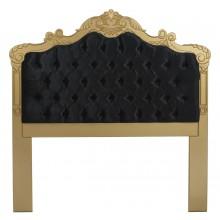 Cabeceira Entalhada Clássica com Capitonê Dourada e Preta Solteiro / Casal / Queen / King + Cores
