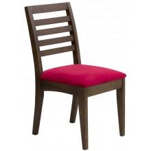 Cadeira com Encosto Horizontal Capuccino e Vermelha + Cores