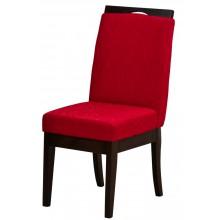 Cadeira Komfort - Capuccino com Vermelho Texturizado