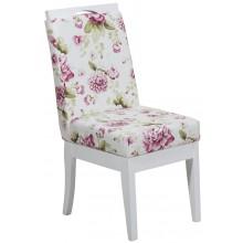 Cadeira Komfort - Branca com Floral Lilás + Opções