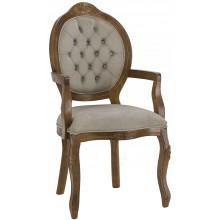 Cadeira Medalhão IV Entalhada com Braço Imbuia + Cores