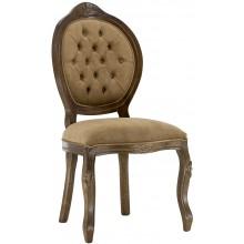 Cadeira Medalhão IV Entalhada Imbuia e Marrom Chocolate