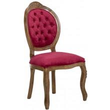 Cadeira Medalhão IV Entalhada - Imbuia e Veludo Amassado Vermelho