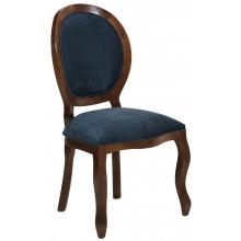 Cadeira Medalhão III Lisa - Capuccino com Azul Petróleo + Cores