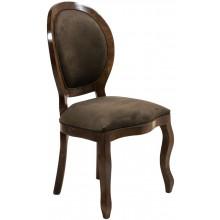 Cadeira Medalhão III Lisa sem Braço - Capuccino e Verde Texturizado