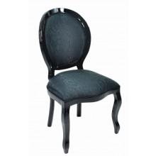 Cadeira Medalhão III Lisa - Preta