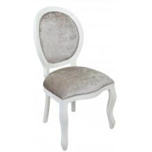 Cadeira Medalhão III Lisa - Provençal Branca com Brilhante Pérola