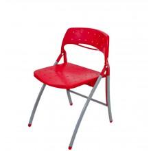Cadeira Plástica Dobrável - Vermelho