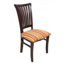 Cadeira Plaza I Capuccino e Amarelo Listrado