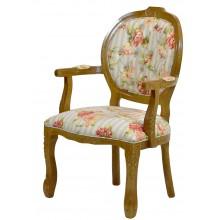 Cadeira Medalhão II Entalhada - Mel e Floral Laranja