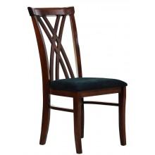 Cadeira Xis Duplo - Capuccino e Veludo Amassado Preto