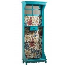 Chapeleira Azul Turquesa com Espelho e Fundo em Tecido + Cores
