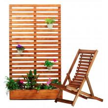 Conjunto Deck Vertical - Jardim / Horta + Espreguiçadeira Rústica
