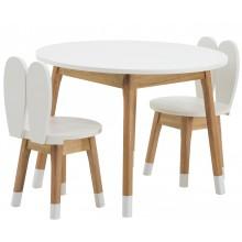 Conjunto Infantil Mesa com Duas Cadeiras Coelho