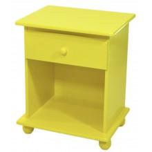 Criado Mudo Quadrado 1 Gaveta - Amarelo