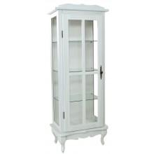 Cristaleira Colorida 1 Porta com Aberturas Laterais - Provençal Branca