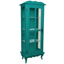 Cristaleira Colorida 1 Porta com Aberturas Laterais - Verde Piscina