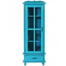 Cristaleira Colorida 1 Porta / 1 Gaveta - Azul Turquesa