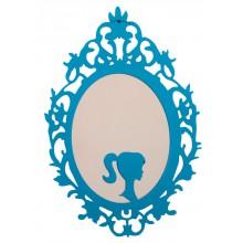 Espelho Clássico Oval Médio Tipo 2 Azul + Cores