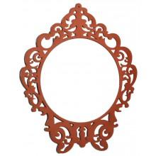Espelho Clássico Redondo Médio - Laranja Cobre