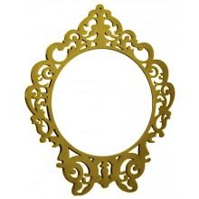 Espelho Clássico Redondo Médio - Dourado