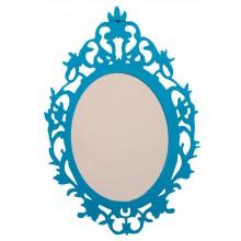 Espelho Clássico Oval Médio Tipo 1 Azul + Cores