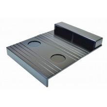 Esteira para Braço de Sofá com Porta Controle e Apoio de Copo - Preta
