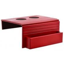 Esteira para Braço de Sofá com Porta Controle e Apoio de Copo - Vermelha