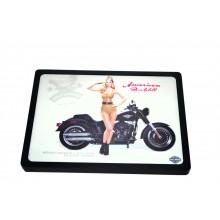 Luminoso Led - Harley Davidson Pin Up - Preto