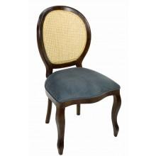 Cadeira Medalhão III Lisa - Capuccino e Cinza com Tela Natural