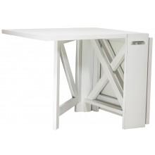 Mesa Dobrável Retangular Rústica Provençal Branca + Cores