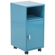 Módulo Begônia Azul Grafite Prateleira e Porta + Cores