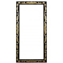 Moldura Entalhada Luis XV Grande Preta com Dourado + Cores
