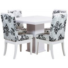 Sala de Jantar Compacta Komfort 4 Lugares Branca + Cores
