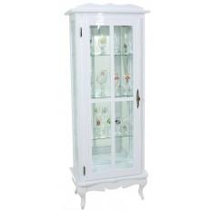Cristaleira Colorida 1 Porta com Aberturas Laterais e Fundo em Espelho