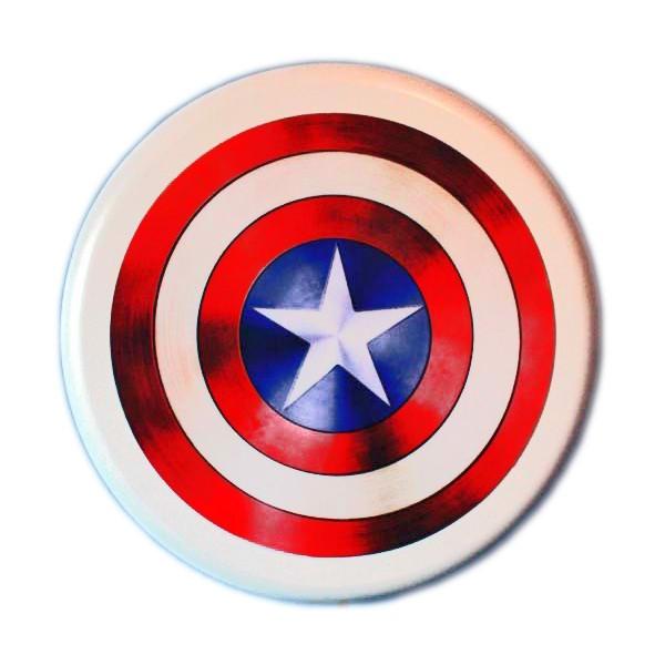 Amado Luminoso Led - Escudo Capitão América - Branco AJ71